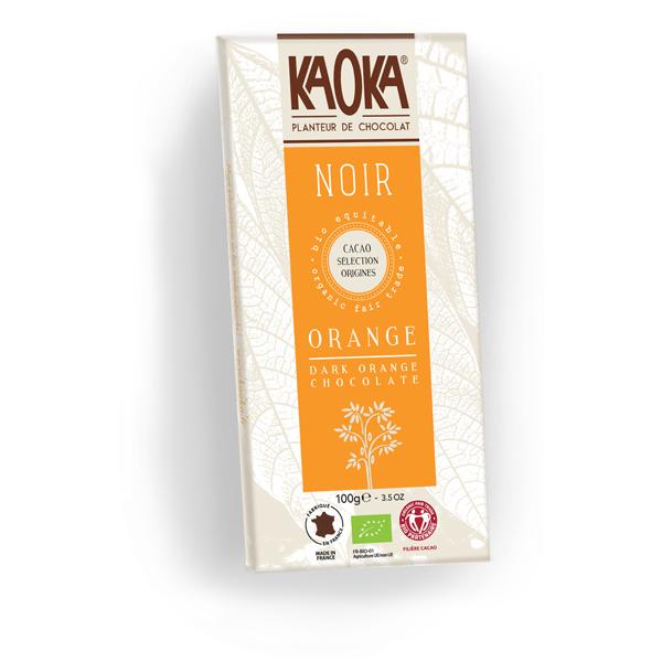 Kaoka mørk chokolade med orange 55 procent økologisk fairtrade 100g
