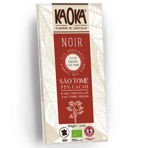 Chokolade økologisk 75 procent mørk Sao Tome Kaoka 100g