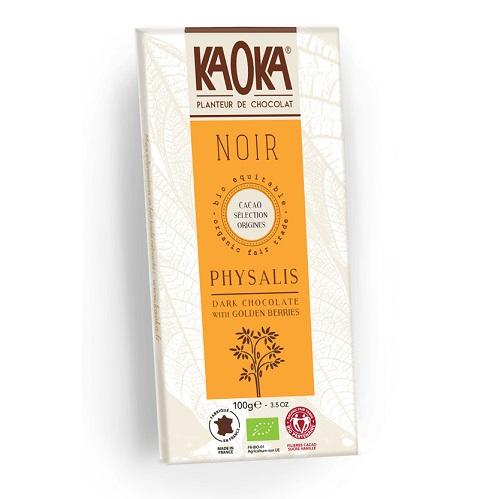 Chokolade-økologisk gyldne physalisbær 55 procent-mørk-KAOKA