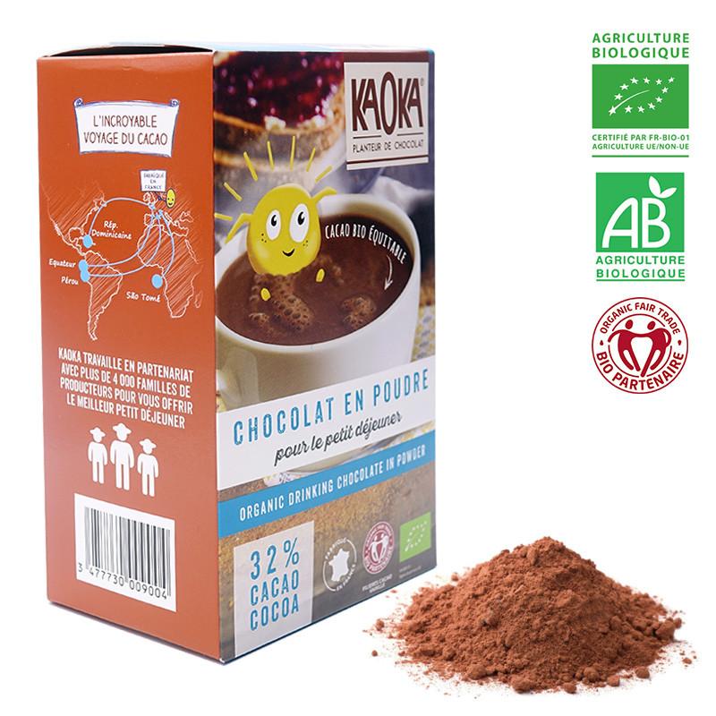 Kaoka Mælkechokolade økologisk fairtrade kakaopulver 22%