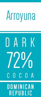 Arroyuna kakao chokoladeknapper 72 procent Kaoka - Chokofair