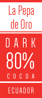 La Pepa de Oro Ecuador 80% mørk overtrækschokolade