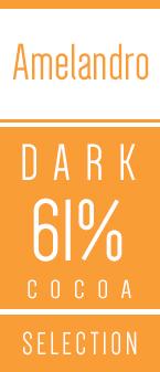 Amelandro chokoladeknapper 61 procent Kaoka - Chokofair