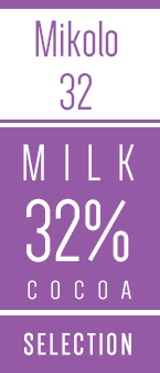 Mikolo lys overtraekschokolade med maelk 32 procent Kaoka - Chokofair